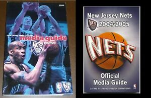1999/2000 & 2004/2005 NEW JERSEY NETS NBA BASKETBALL MEDIA GUIDES-MINT
