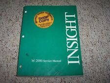 2000 Honda Insight Service Shop Repair Manual 1.3L 3 Cyl
