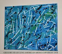 """The Wave""   ORIGINAL FINE ART American Artist GREGORY HUGH LENG  New!"