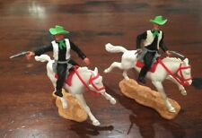 Timpo Mounted Cowboys x 2 - Wild West - 1970's