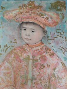 Edna Hibel Artist Proof Asian Art Beautiful Hand Signed Rare Unique Vintage Find