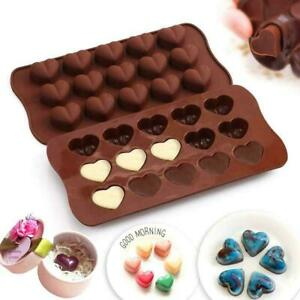 Heart Dimpled Candy Silicone Chocolate Mold Cake Fondant Tray Cube Mould A7M9