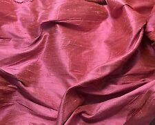 Silk DUPIONI Fabric Rose Pink - by the yard-