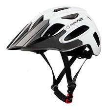 Bicycle Helmet Road Cycling Safety Helmet MTB With USB Light And Visor White