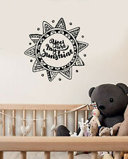 Vinyl Wall Decal Sun Mandala Nursery Bedroom Kids Room Quote Stickers (ig5631)