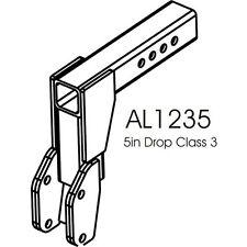 "AL1235U Class III Hitch 5"" Drop Adapter for Harmar Mobility outside carrier Lift"