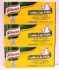 Pk 3 Knorr 8 Bouillon Cube-Chicken Flavor 3.1 oz/pk-Total 16 Cube Caldo de Pollo