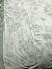 Belmondo Abbeville Quilt Cover Set Double Bed 100% Cotton White & Green