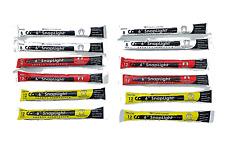 "Cyalume Snaplight Light/Glow Sticks 6"" 12 Pack Multi-color (Yellow, White, Red)"