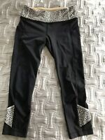 Lululemon Run Speedup Mid-rise Crop In Black Size 6