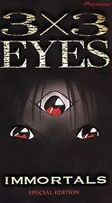 3x3 Eyes Vol. 1: Immortals Special Edition (VHS, 2000, 2-Tape Set, Dubbed)