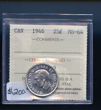 1946 Canada 25 Cents ICCS Certified MS64 DCB483