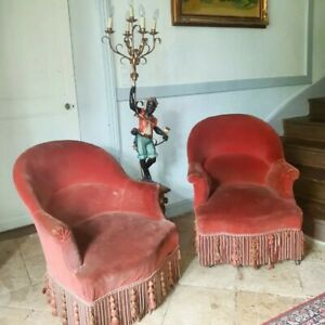 Antique French Chairs, Pair of Napoleon III Period Chairs