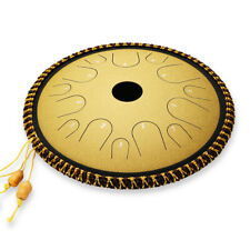 More details for ulalov percussion steel tongue drum& 14 note with book mallet finger pick sales