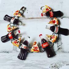 Unique Junk Lunch Bracelet handmade Coke diet Pizza fast food Pepperoni cool!