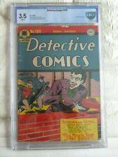 Detective Comics #109 (1941) cgc,cbc 3.5 joker appearance.white pages