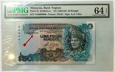 Malaysia banknote 5TH RM50 Aziz Taha 6 million serial number
