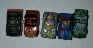 1989 Galobe Micromachines Lot Of Five Cars With Sparkle Paint