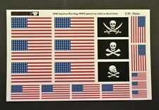 Reality In Scale 35182 American US flags WW2  on cotton 1:35 scale diorama