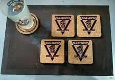 ALICE COOPER SPECIAL FORCES 4 CORK DRINK COASTERS / POSAVASOS DE CORCHO