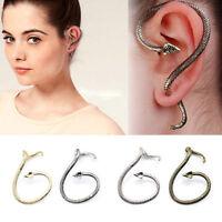 Fashion Snake Dragon Ear Cuff Wrap Stud Earring Clip Wrap Gothic Punk Rock Gift