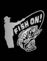 Fish On Fisher Man Sticker Vinyl Decal