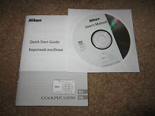 Nikon Coolpix S2550 Digital Camera Quick Start Guide and CD Rom User Manual