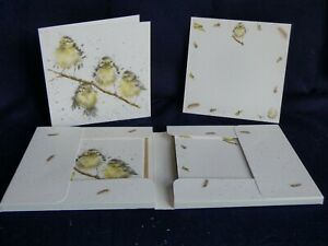 """WRENDALE """"Hanging out with Friends"""" (Bluetits ) Notecard & envelope Pack"""