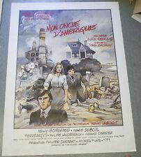 Affiche de cinéma : MON ONCLE D'AMERIQUE d'Alain RESNAIS - BILAL - DEPARDIEU