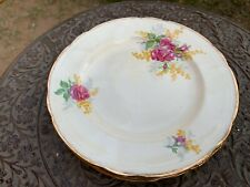 Vintage Old Crown Ducal Made In England 2649 Round Serving Floral Plate 5 Set