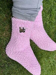 Ladies Sloth Slipper Socks Embroidered Socks Sloth Gift Idea