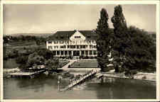 Insel Reichenau Bodensee s/w Postkarte ~1940 Blick auf Strandhotel Löchnerhaus