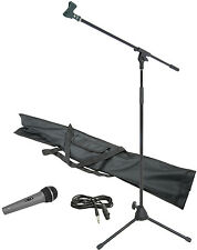 Chord Professional Complete Dynamic Microphone and Mic Stand Kit Gift kit
