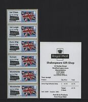 STRATFORD SHAKESPEARE FLAG undated BNGB16 COLLECTOR STRIP Post Go A009