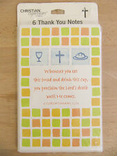 NEW Dayspring Christian Expressions Religious Communion 6 Thank You Note Cards