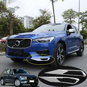 ABS Chrome Front bumper fog lights trim cover 2pcs For Volvo XC60 2018-2019