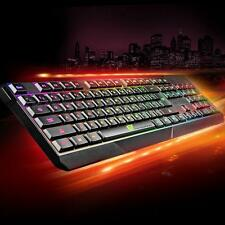 Waterproof LED Illuminated Backlight USB Wired Gaming Game Laptop PC Keyboard AU