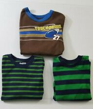 Lot of 3 Boys Size 4T & 5T Toddler Garanimals Shirt Striped Long Sleeves