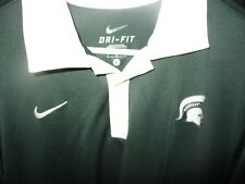 Green MICHIGAN STATE SPARTANS Nike Dri Fit Soccer Jersey Large