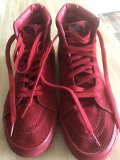 Van Off The Wall High Top Trainers Red Size 10