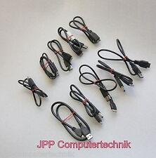 """10x USB 3.0 Micro-B Kabel Stecker-A für externe Festplatte 2,5"""" Schwarz Black"""