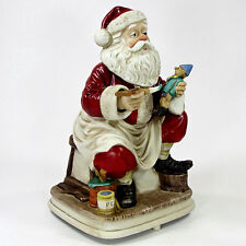 "Melody In Motion 1987 SANTA CLAUS 11"" Musical Figurine Joy To The World Vintage"