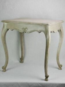 """Louis XV style side table with beige patina 1960's 17¼"""" x 23¾"""""""