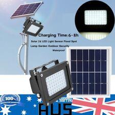 54 LED Solar Powered Panel Floodlight Night Light Sensor Garden Lamp Outdoor TT