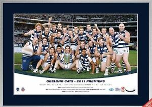AFL GEELONG CATS 2011 PREMIERS  LIMITED EDITION TEAM - FRAMED
