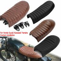 Vintage Motorcycle Cafe Racer Flat Brat&Hump Saddle Seat For Honda Suzuki Yamaha