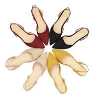 Chaussures à talon plat pour femmes Sandales en daim à talons plats Lady ChausQ9