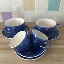 Whittards of Chelsea Tea Clipper Stars 8 Piece Cup/Saucer Set