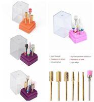 Nail Art Tools 7Pcs Drill Bits File Set Electric Manicure Pedicure Polishing Kit