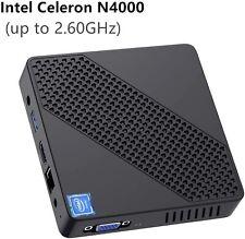 N40 Mini PC Intel Celeron N4000 4GB DDR/64GB eMMC Windows 10 Pro HDMI&VGA 2.6GHz